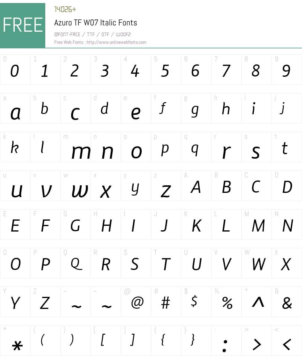 Azuro Font Screenshots
