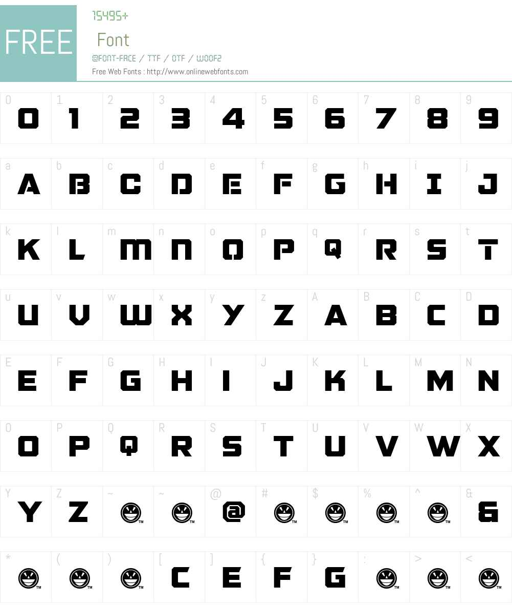 GALACTIC VANGUARDIAN NCV Font Screenshots