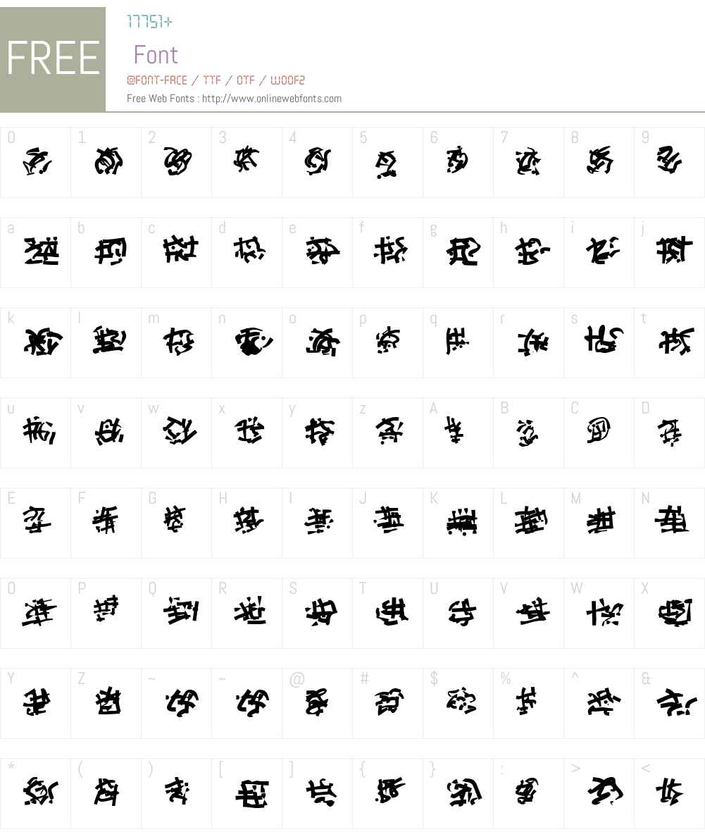 Runes of the Dragon Two Font Screenshots