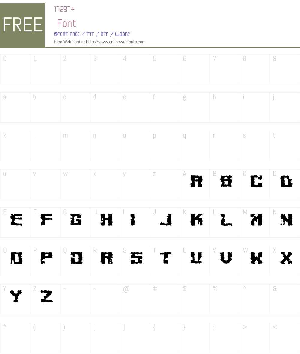 Cheesey Font Screenshots