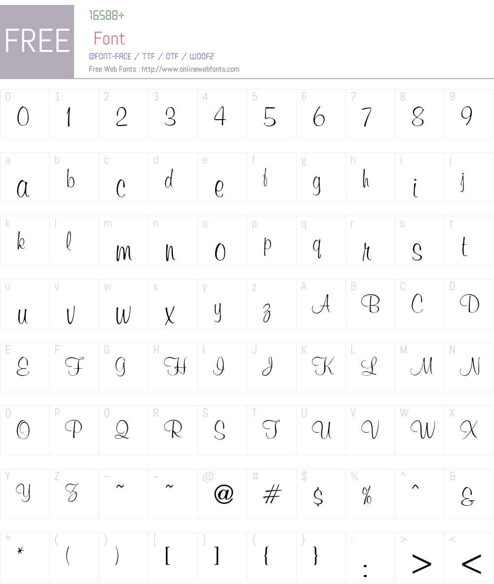 Murray Font Screenshots