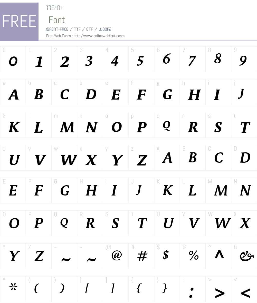 Parable-BoldSCItalic Font Screenshots