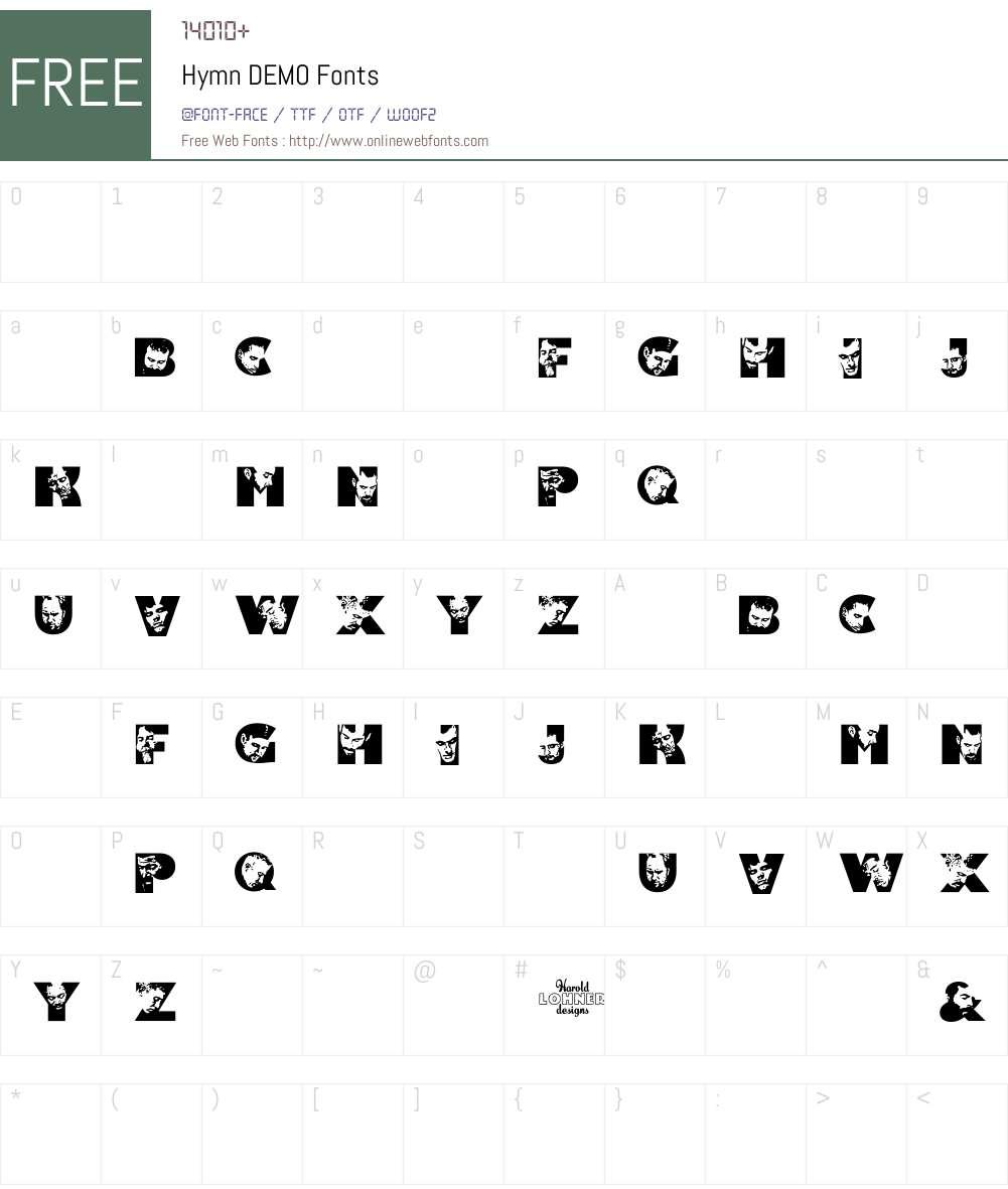 Hymn Font Screenshots