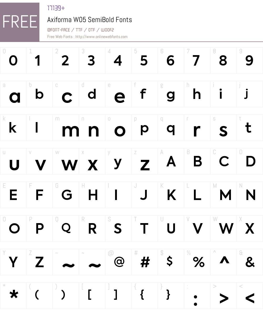 Axiforma-SemiBold Font Screenshots