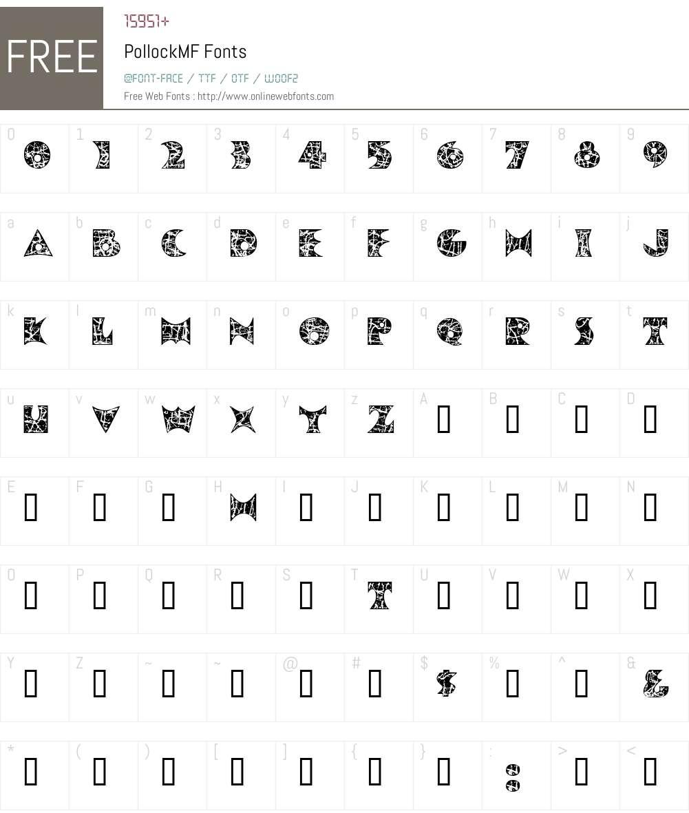 PollockMF Font Screenshots