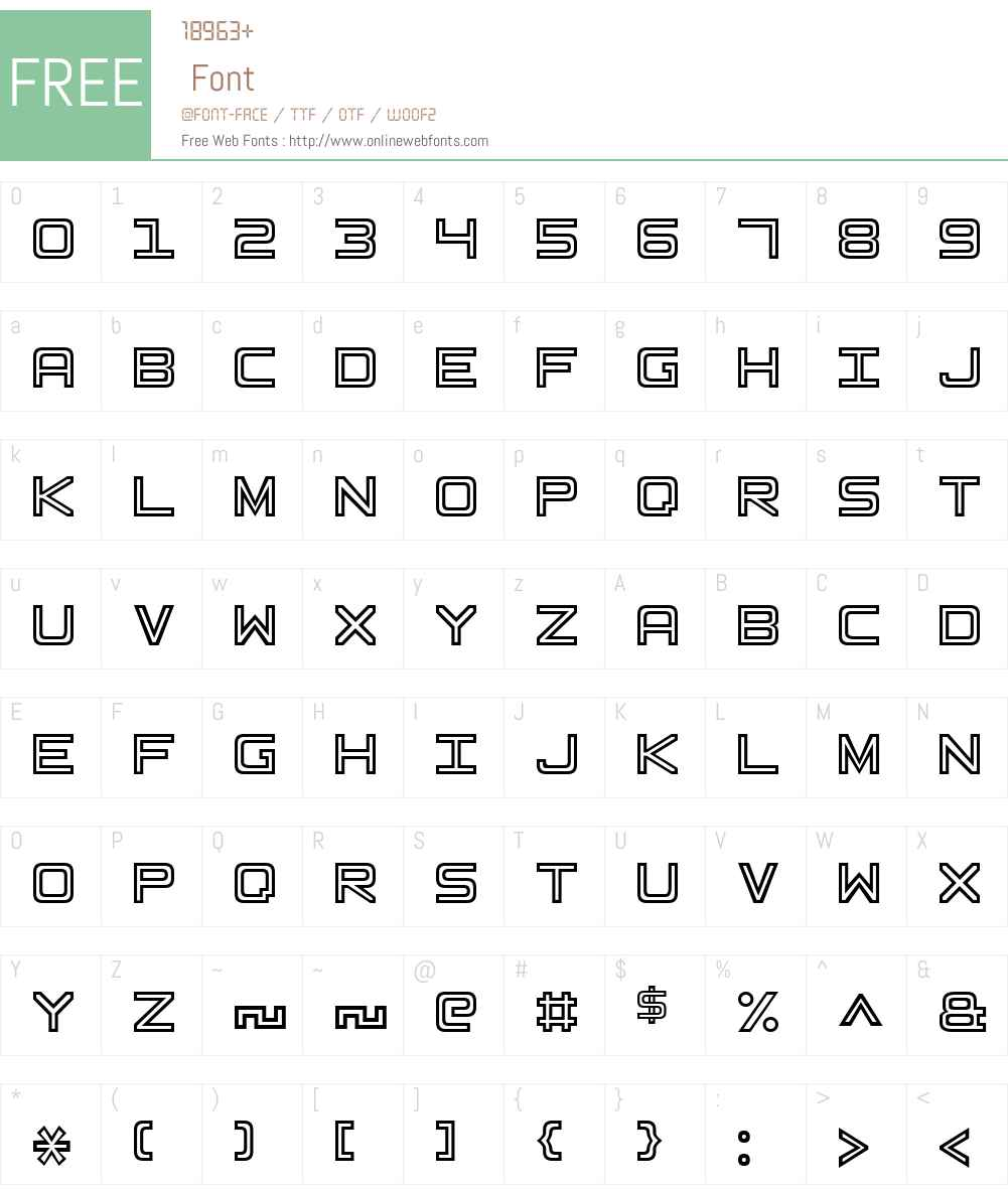 Basic Square 7 Font Screenshots