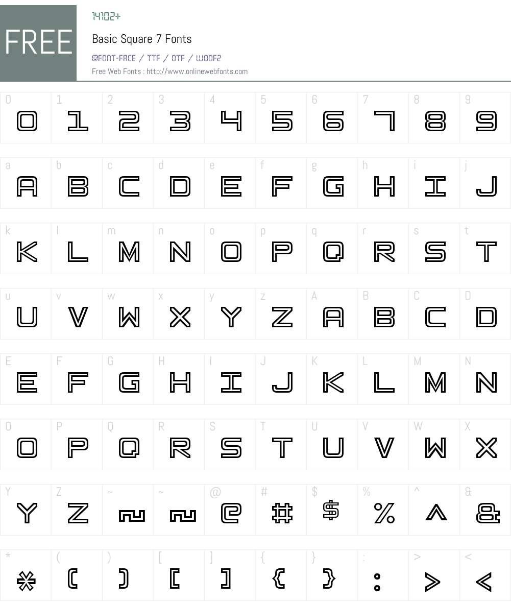 Basic Square 7 Font Screenshots