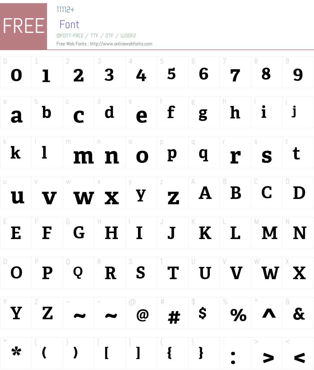 AdelleW01-Bold Font Screenshots