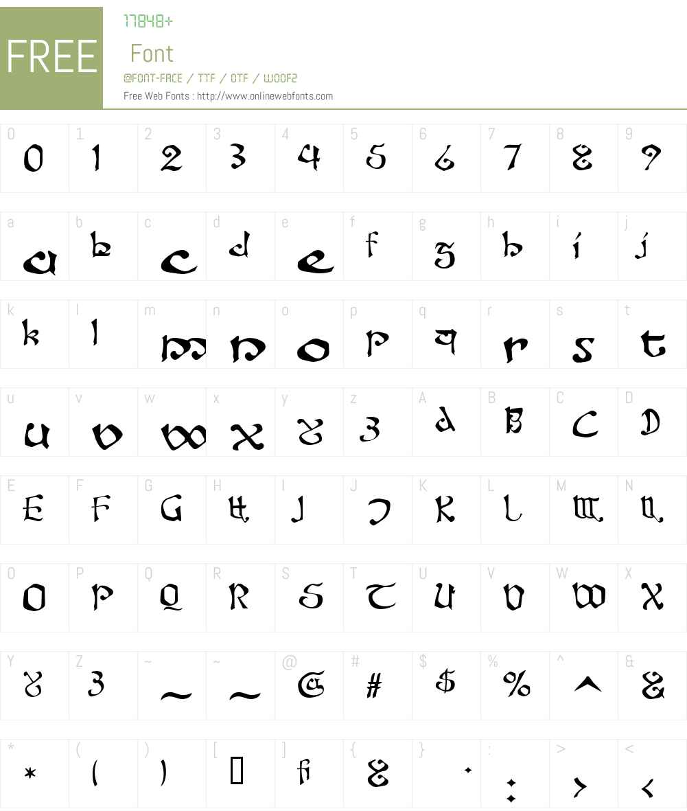 Fanjofey AH Font Screenshots