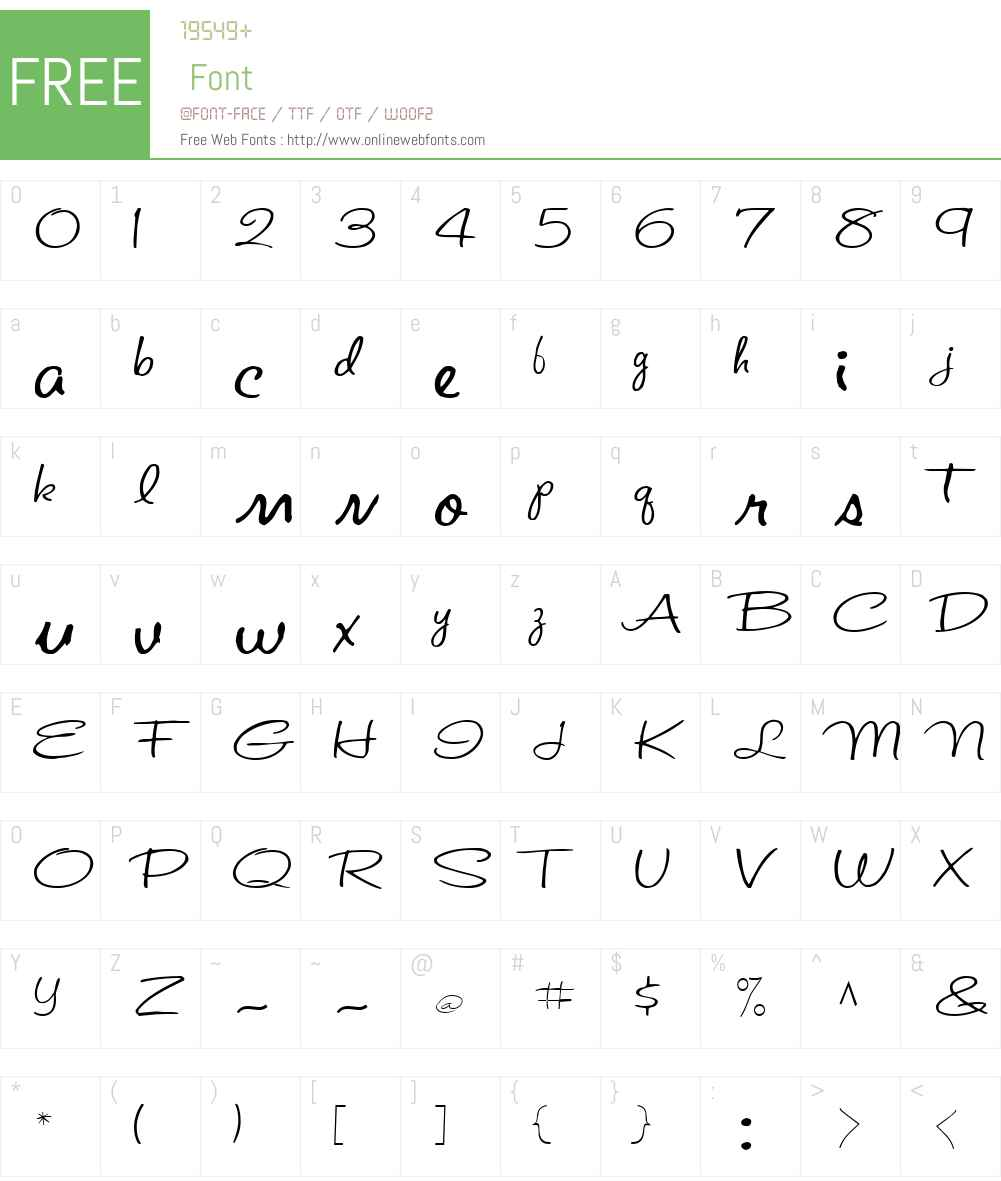 St. Valentine Note Font Screenshots