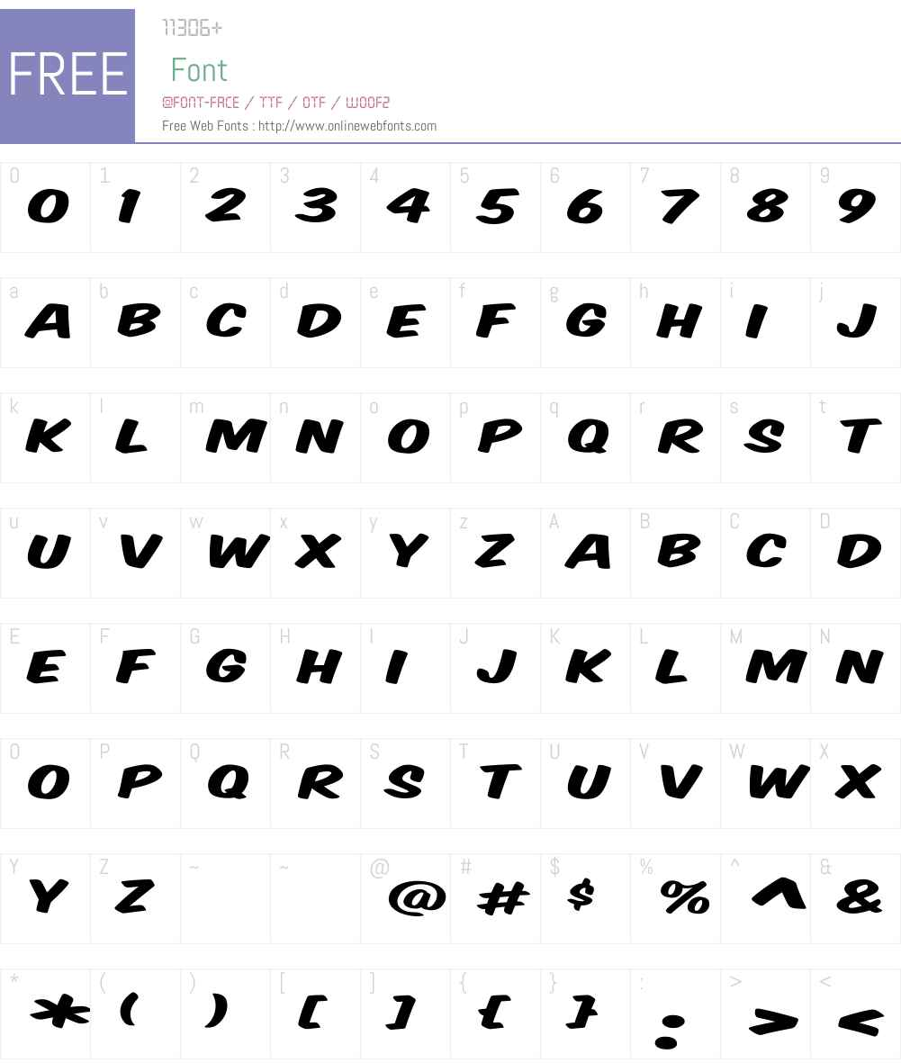 VTCSuperMarketSaleDisplay Font Screenshots