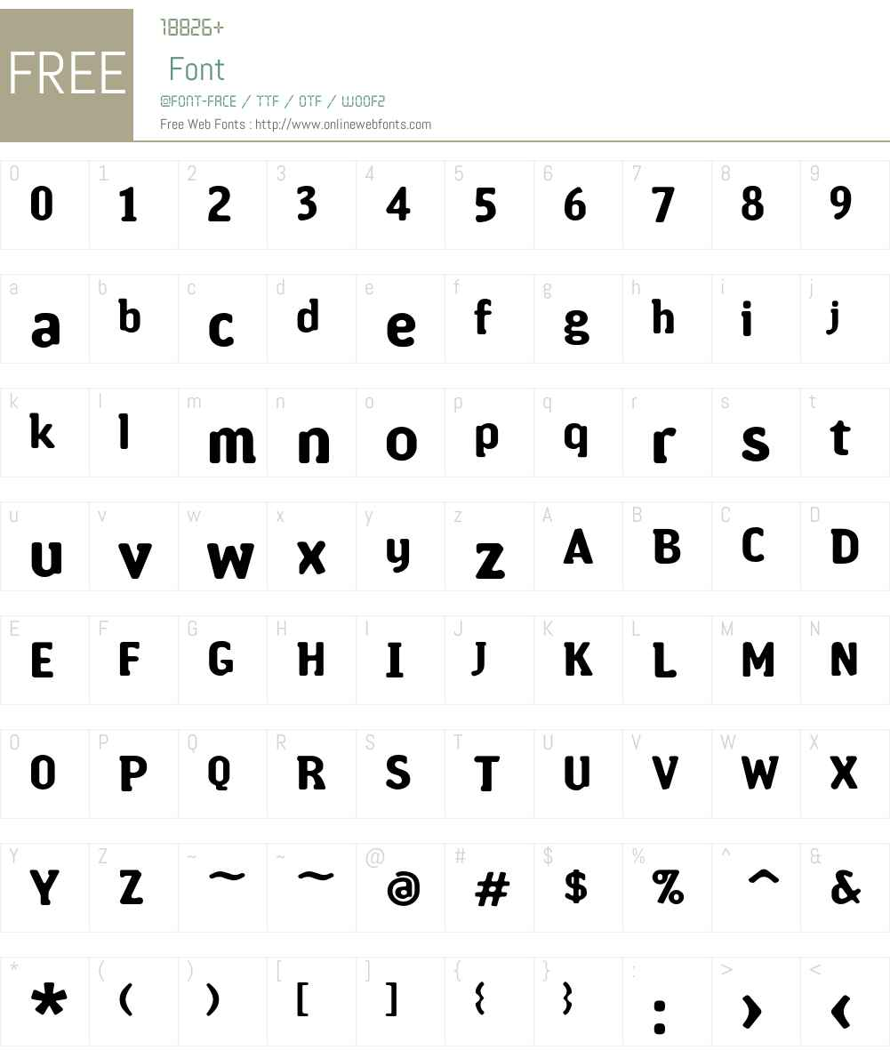Amoebia Font Screenshots
