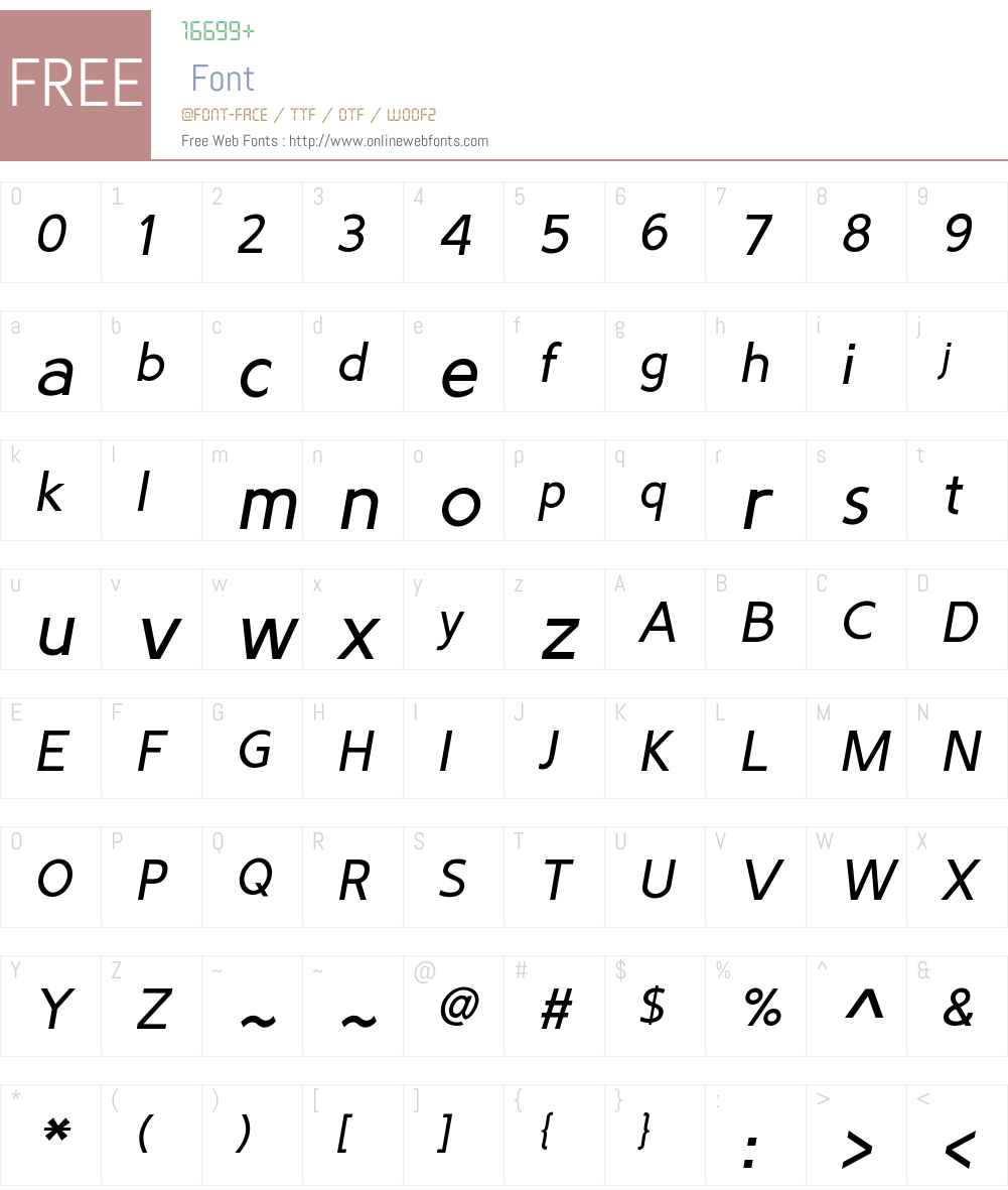 PredicateW03-Italic Font Screenshots