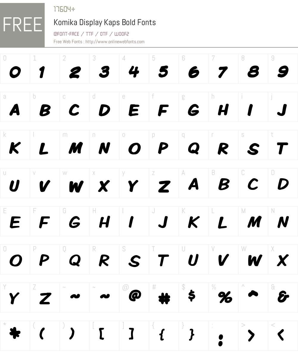 Komika Display Kaps Font Screenshots