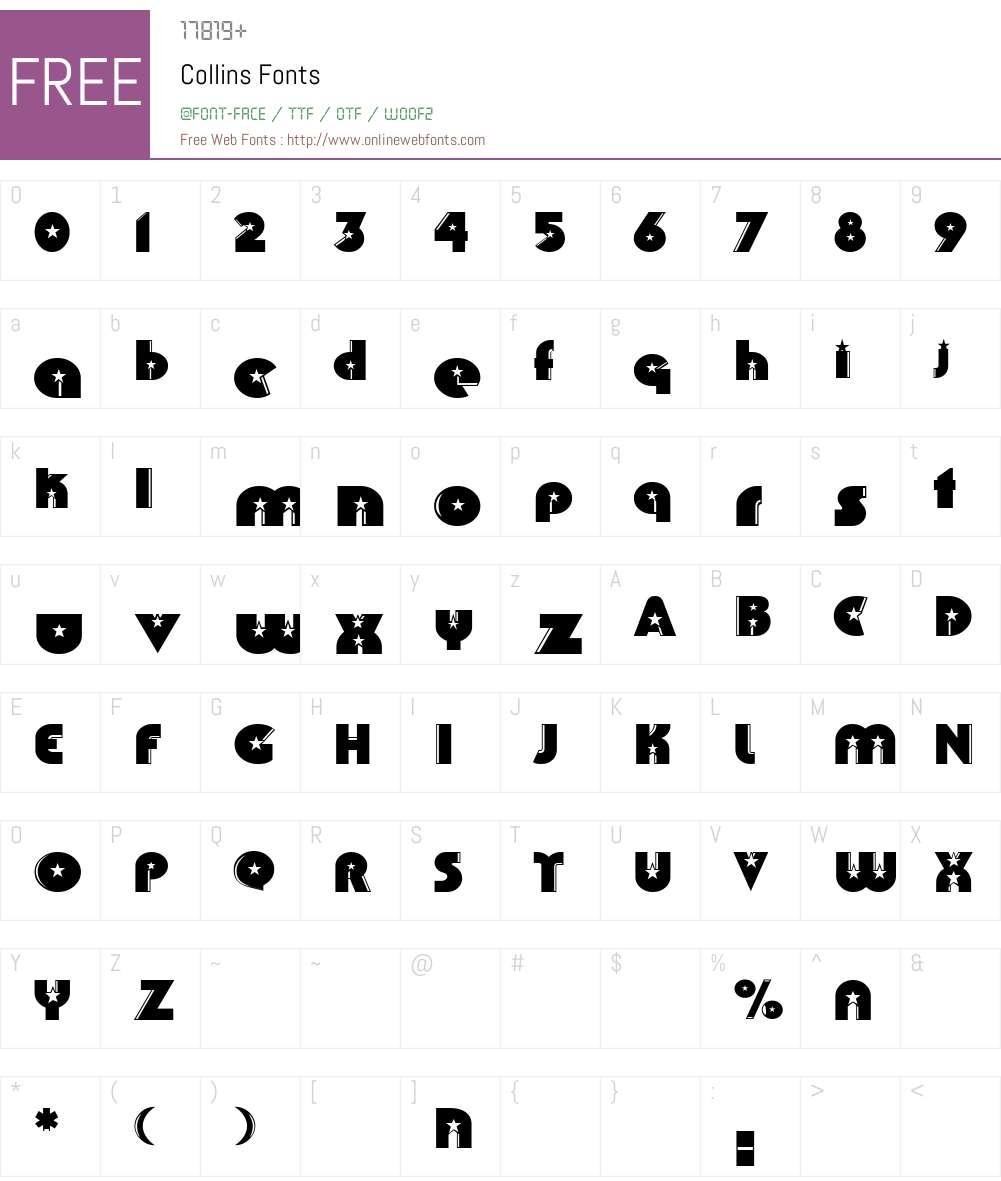 Collins Font Screenshots
