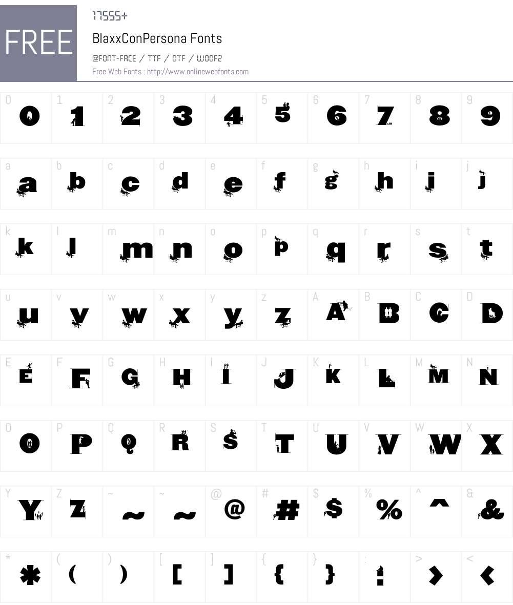 BlaxxConPersona Font Screenshots