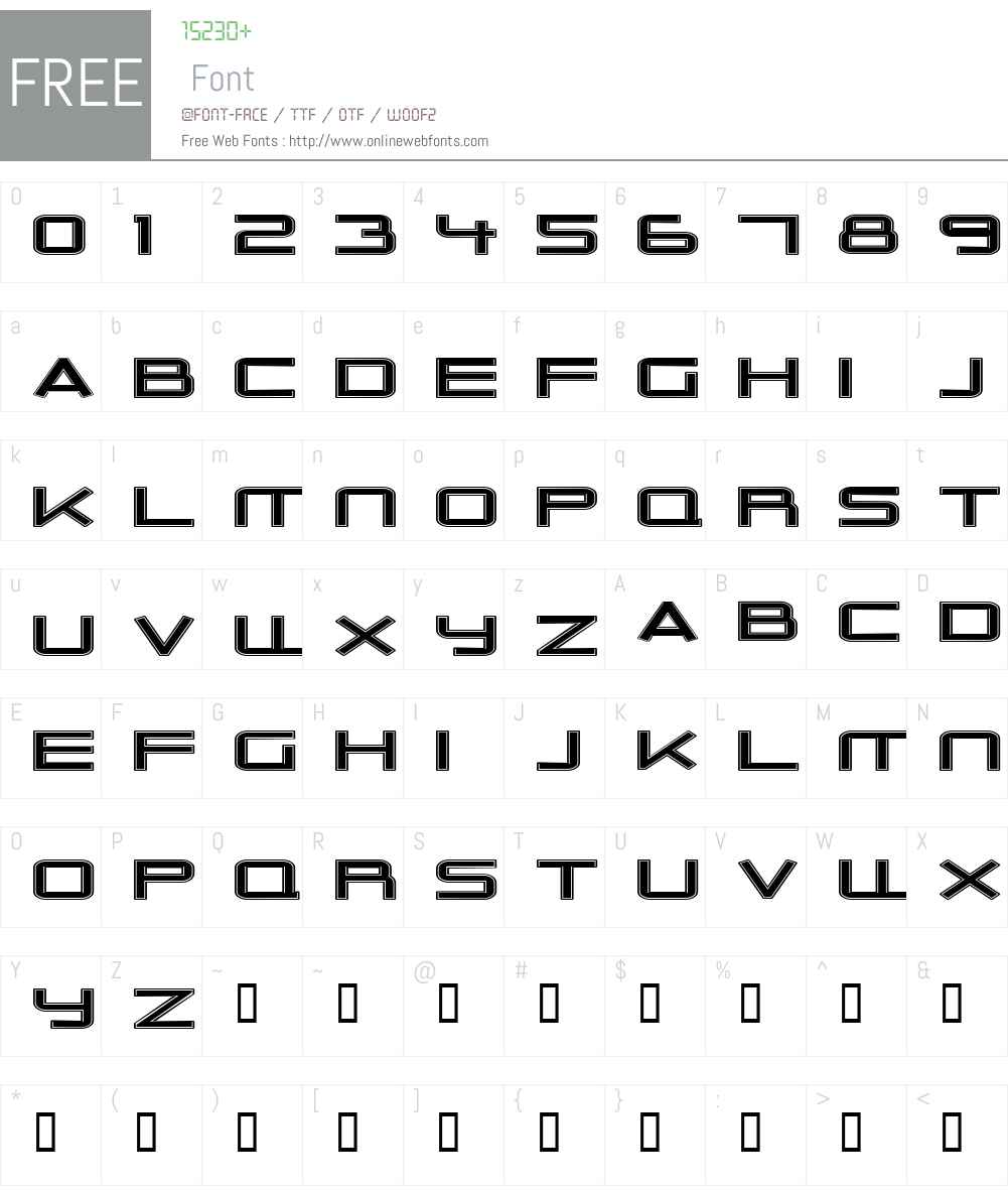 Outer Limits Extended Font Screenshots