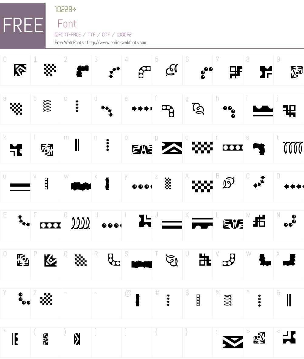 Eezeborder Font Screenshots