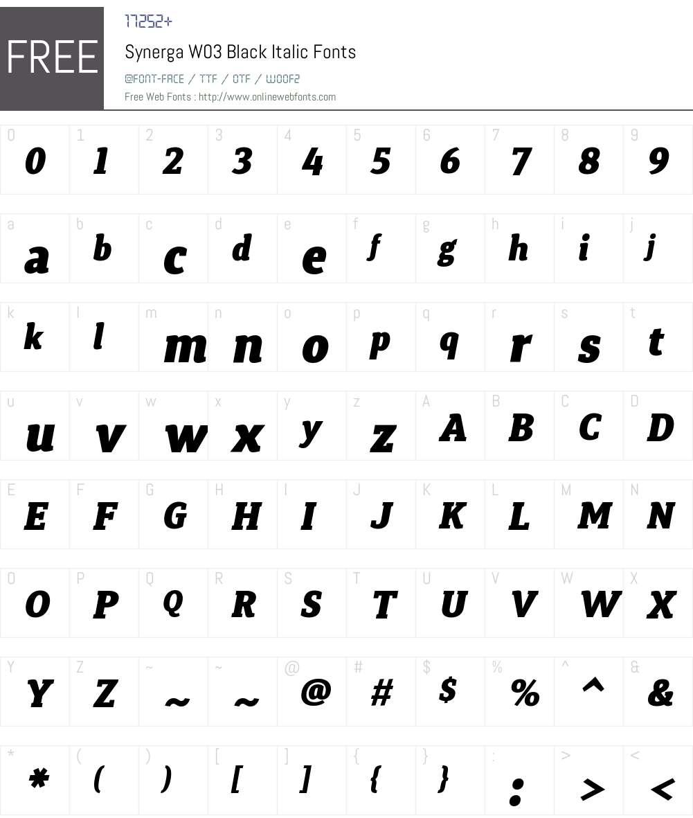 Synerga Pro Font Screenshots
