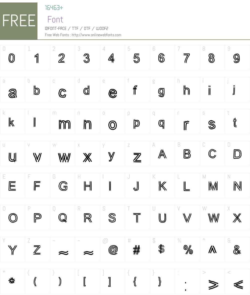 JD Tuline Font Screenshots