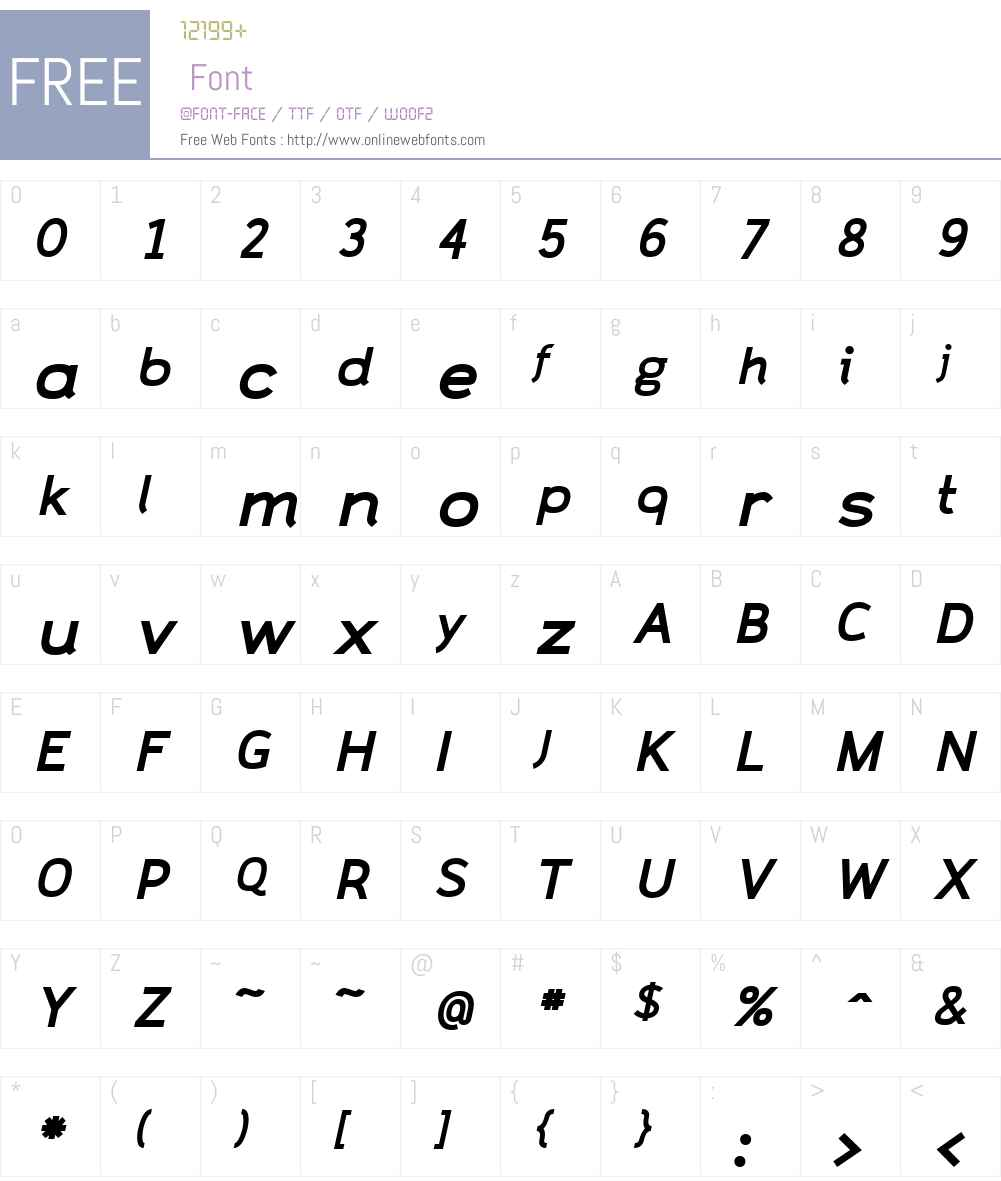 CAZaracusaW00-WideBoldIt Font Screenshots