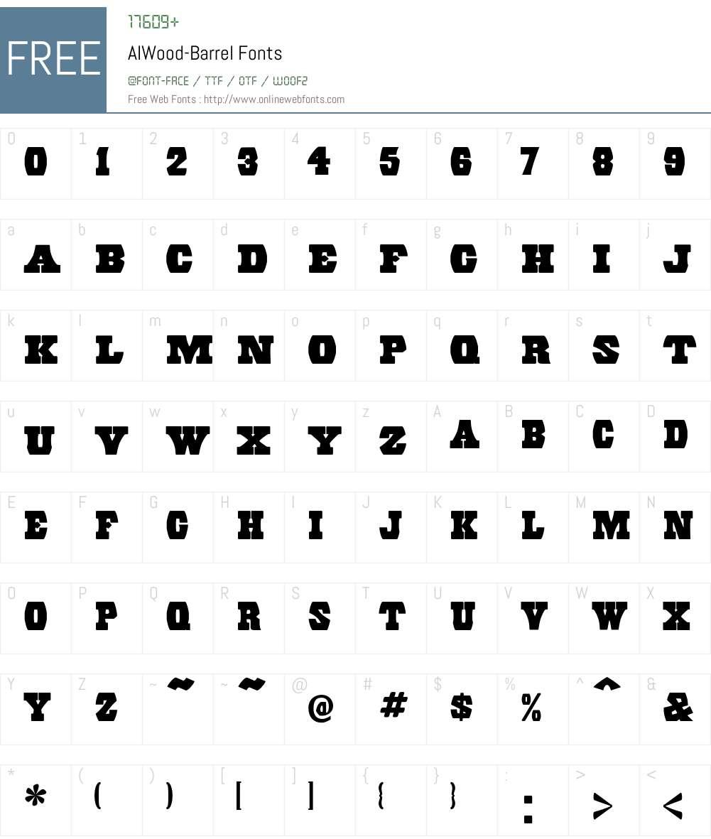 AIWood Font Screenshots
