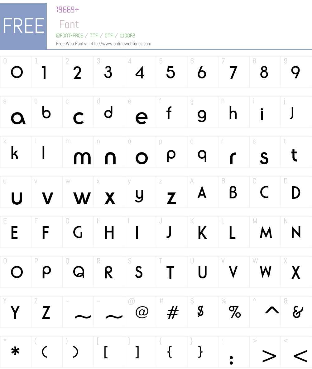 ITC Ronda Font Screenshots