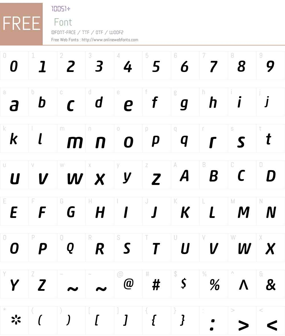 AkkoRoundedW01-MediumItalic Font Screenshots