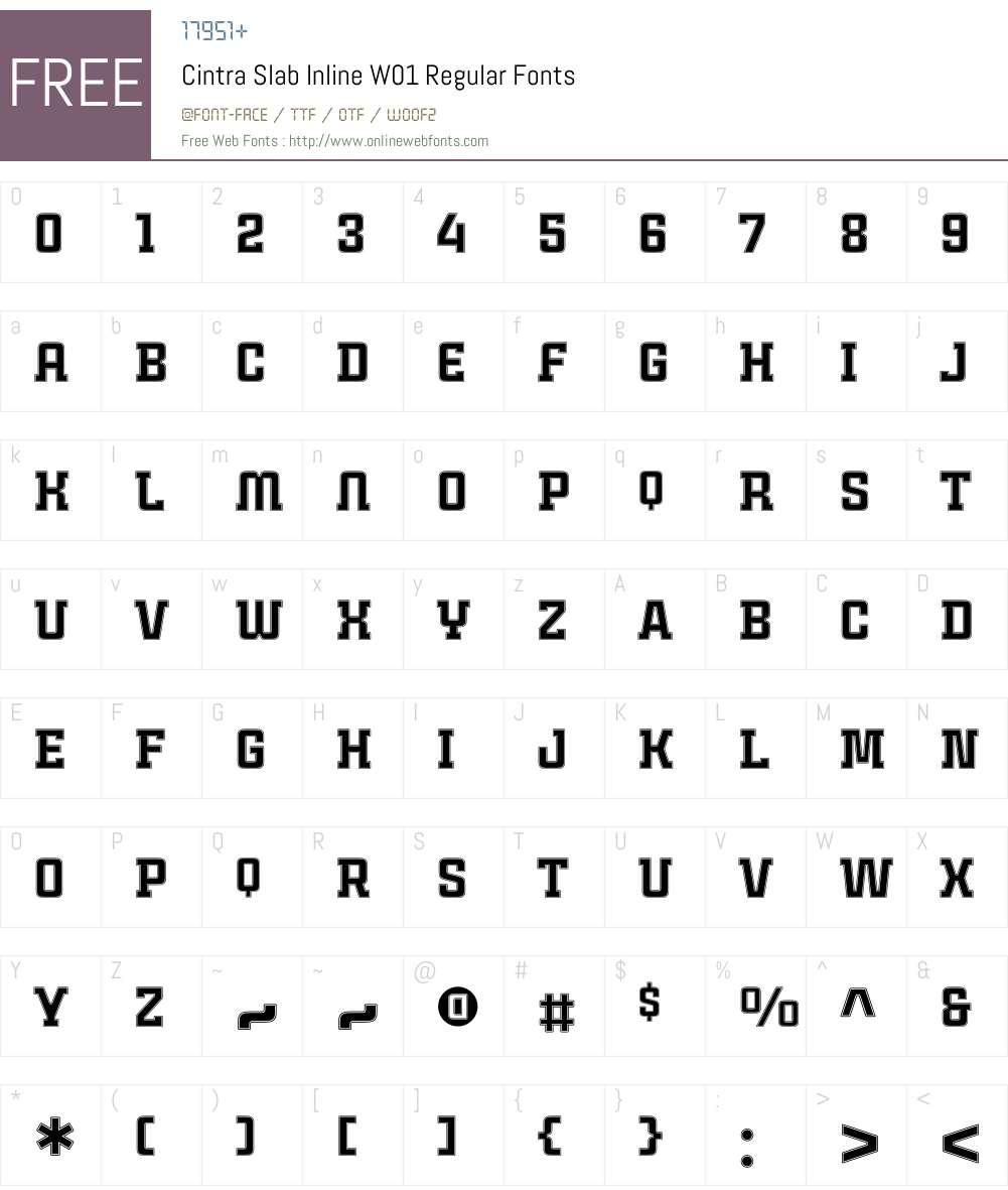 CintraSlabInlineW01-Rg Font Screenshots