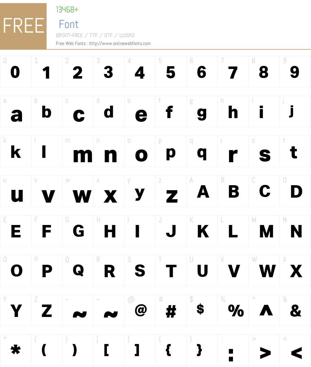 AktivGroteskW01-XBold Font Screenshots
