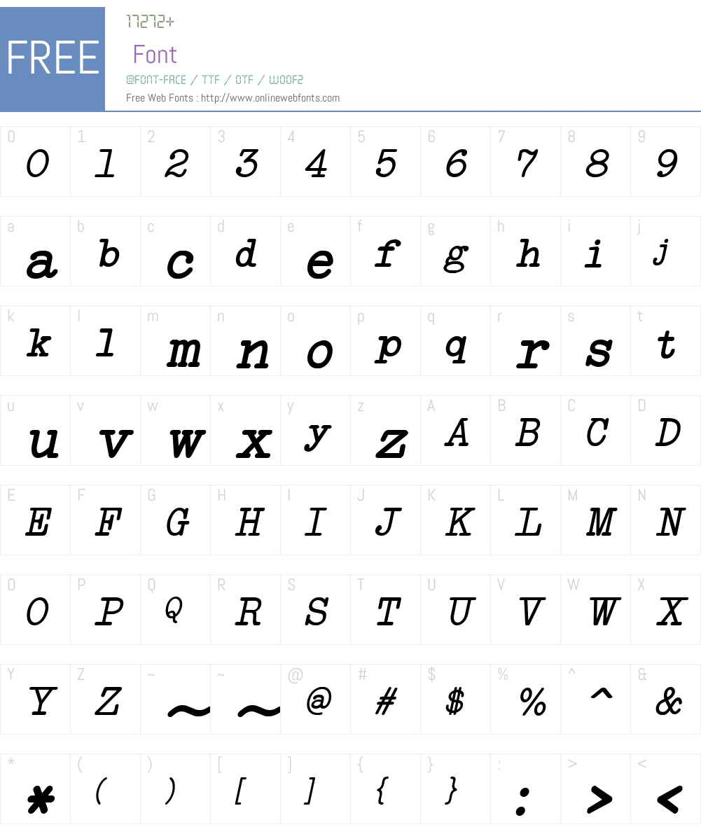 NeoBulletin Italic Font Screenshots