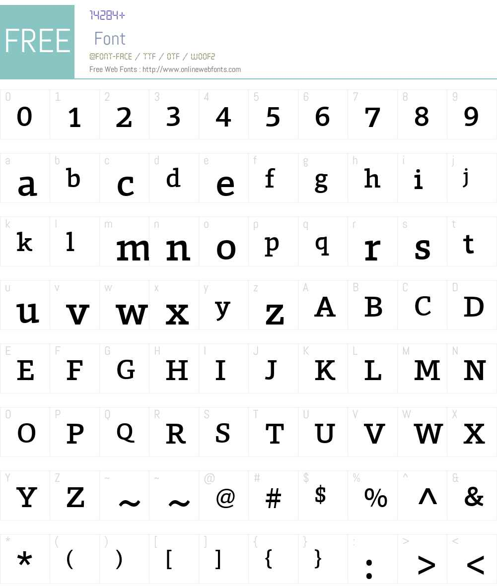 ForoW01-Medium Font Screenshots