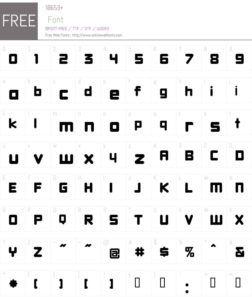 DBXLNightfever Font Screenshots