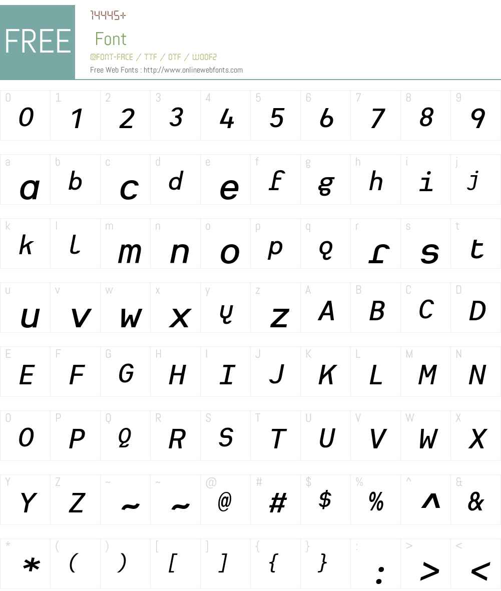 Heimat Mono SemiBold Font Screenshots