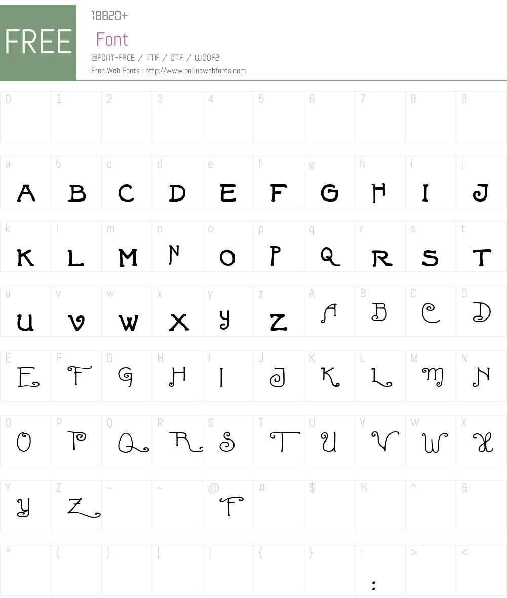 Fortunaschwein Font Screenshots