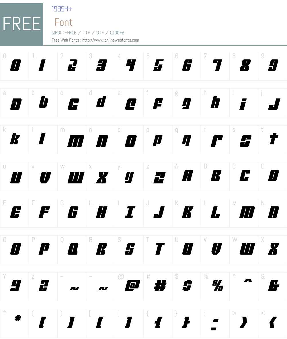 Mobile Infantry Italic Font Screenshots