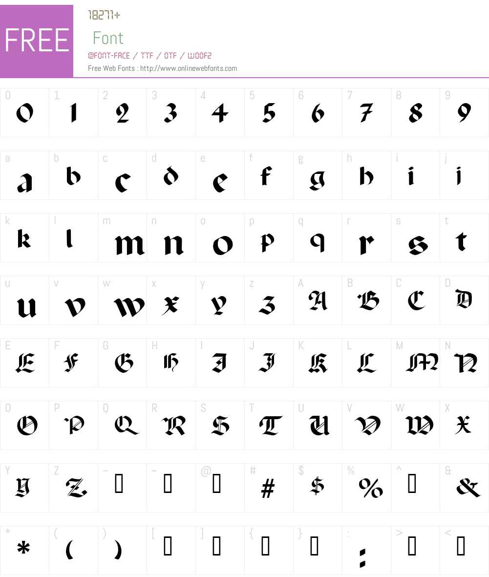 Excalibur SF Font Screenshots