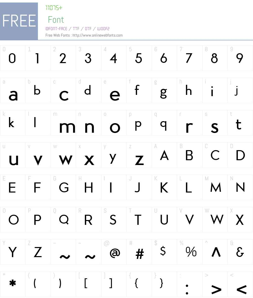 Aramis Font Screenshots