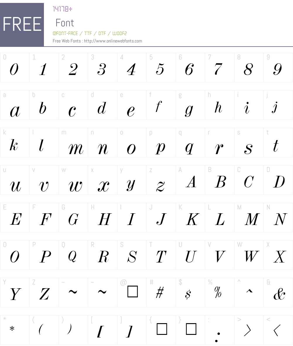 DubielItalic Font Screenshots