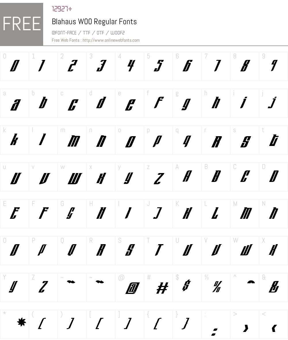 Blahaus Font Screenshots