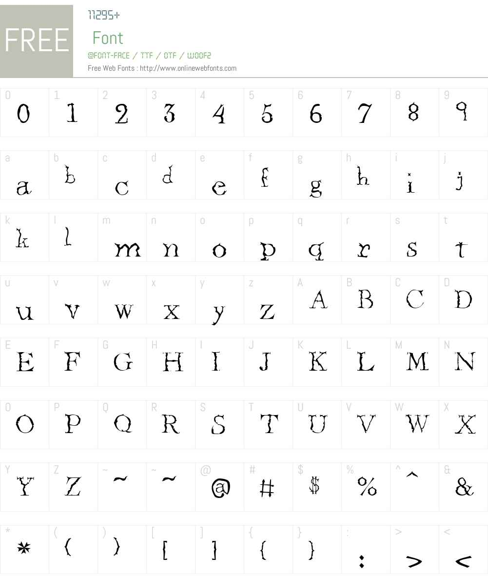 CrumudgeonW00-Regular Font Screenshots