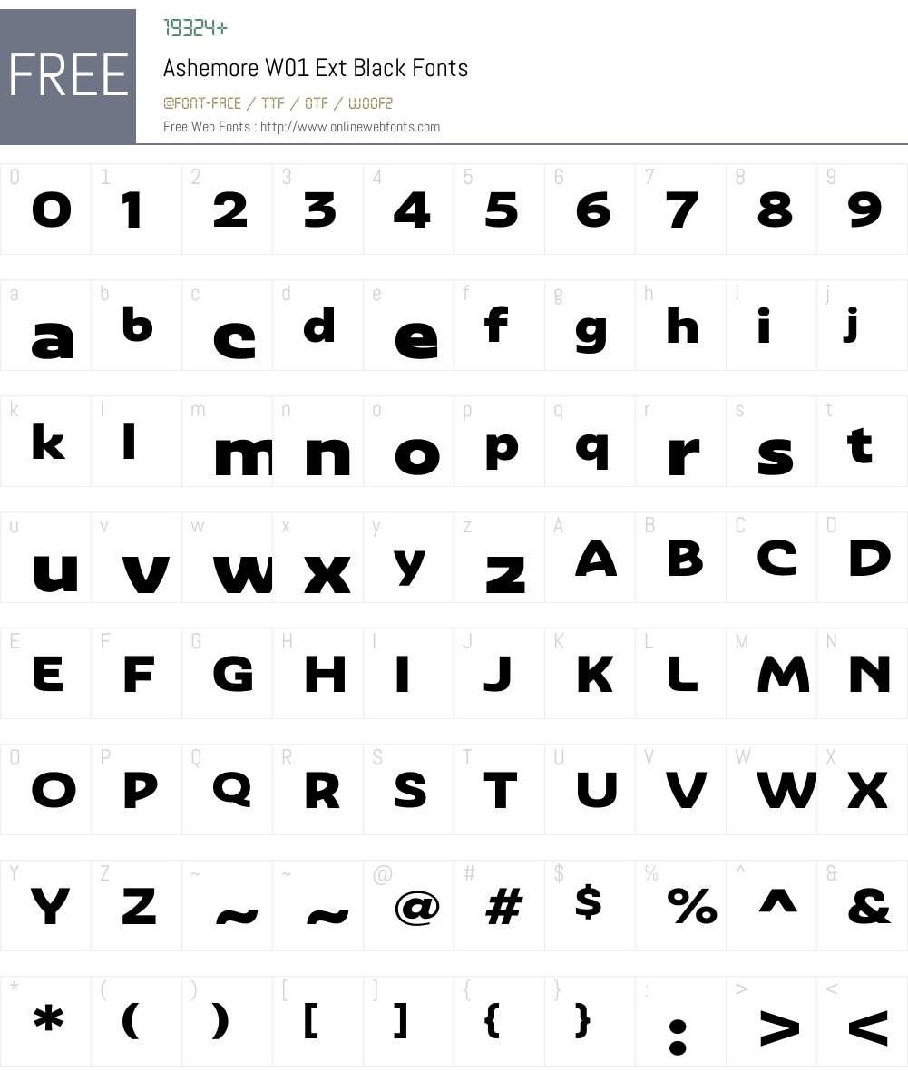 AshemoreW01-ExtBlack Font Screenshots