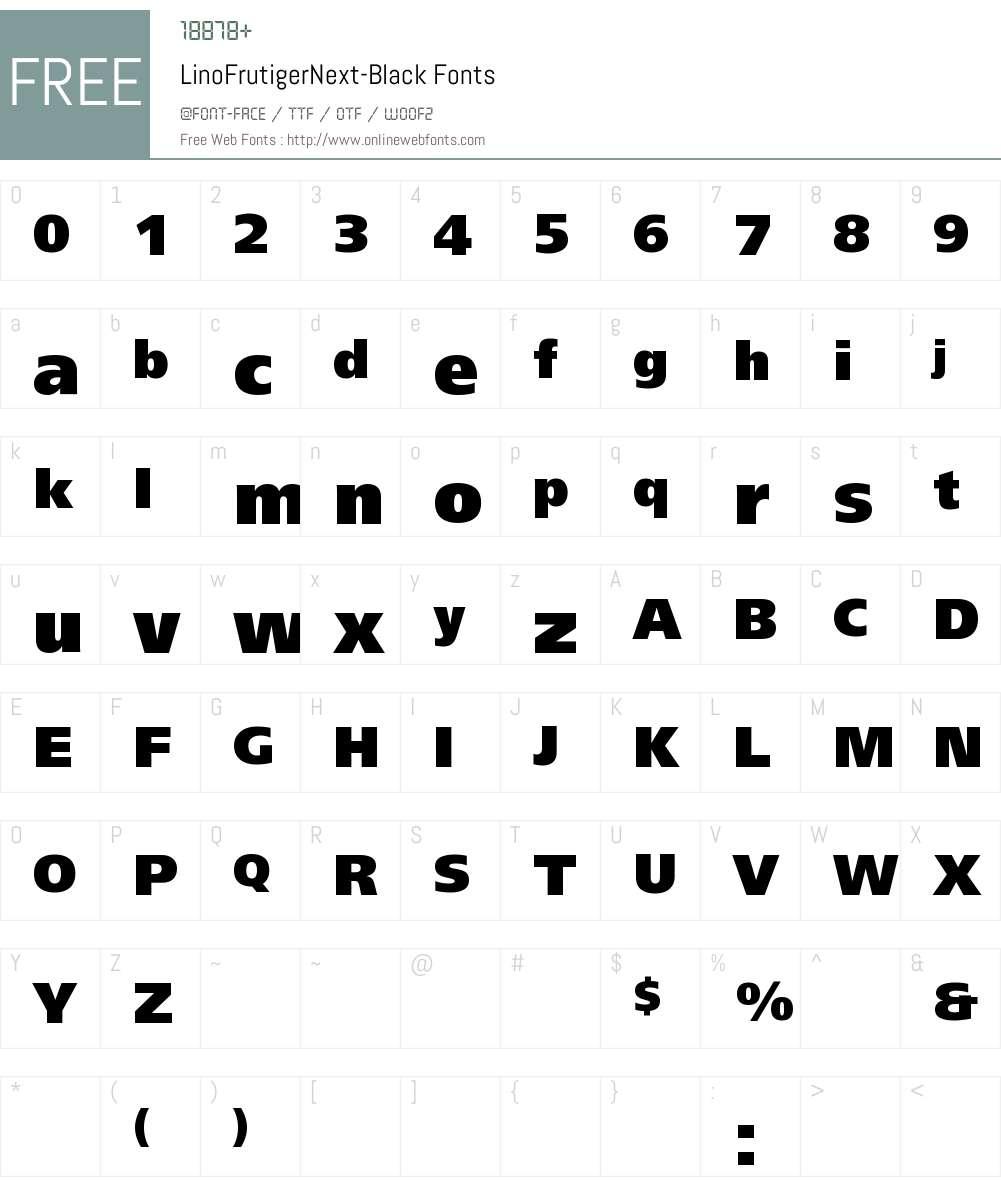 LinoFrutigerNext Font Screenshots