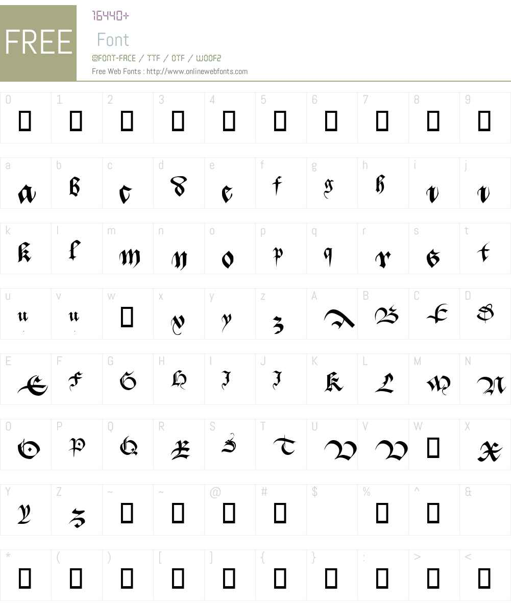 Batarde Font Screenshots