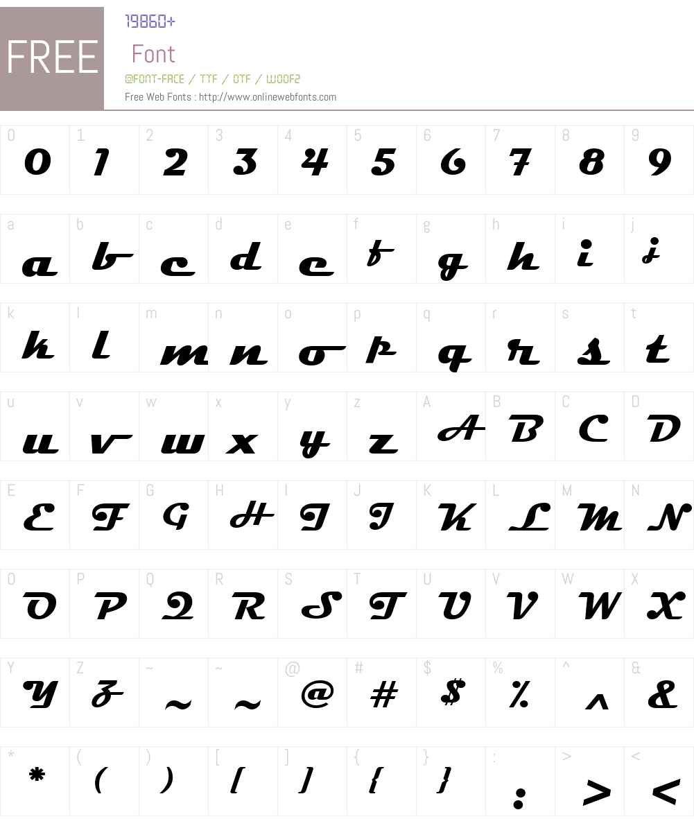 Magneto Font Screenshots