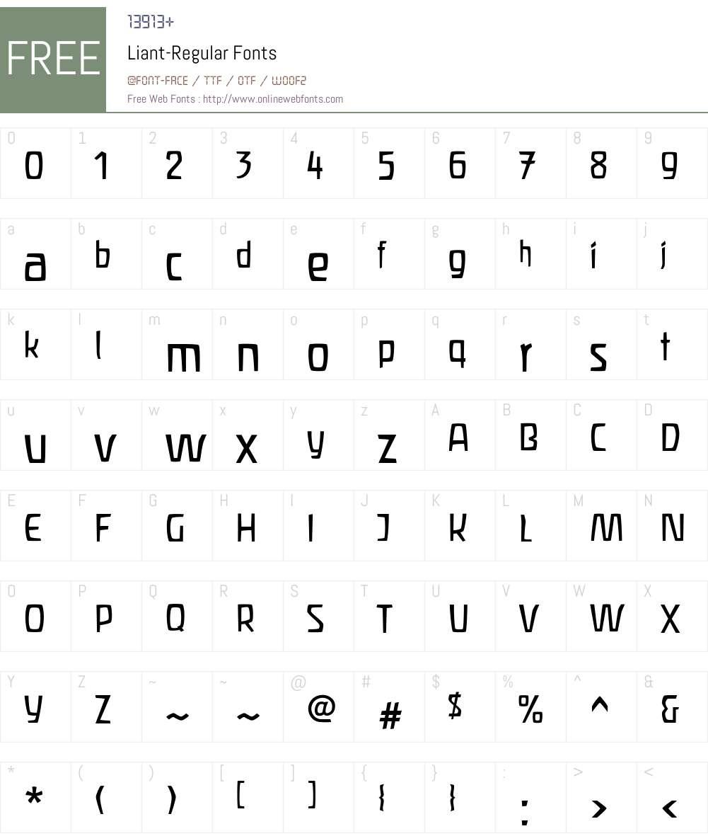 Liant Font Screenshots