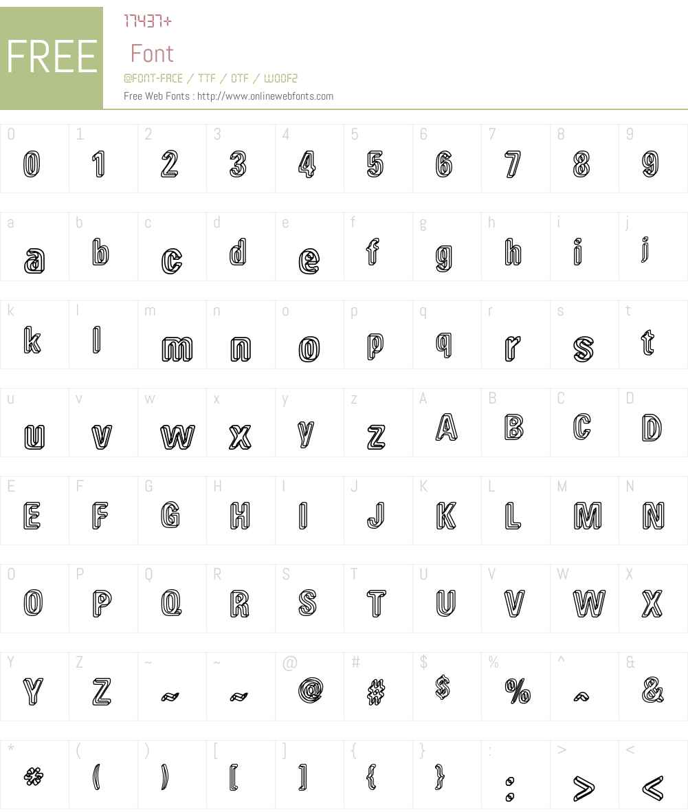 LowTech Font Screenshots