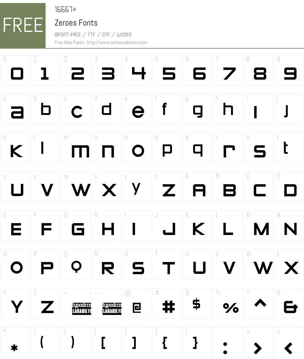 Zeroes Font Screenshots