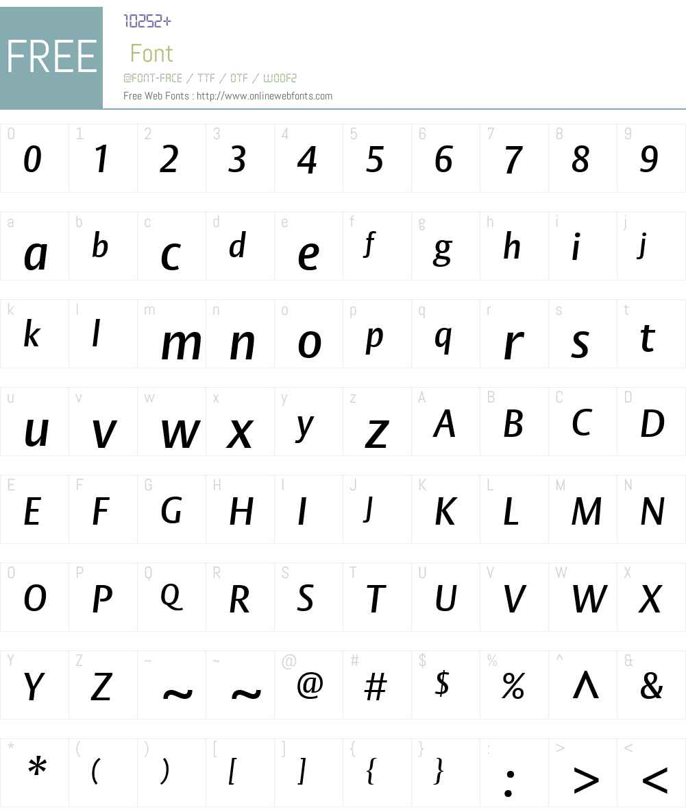 Vesta Font Screenshots
