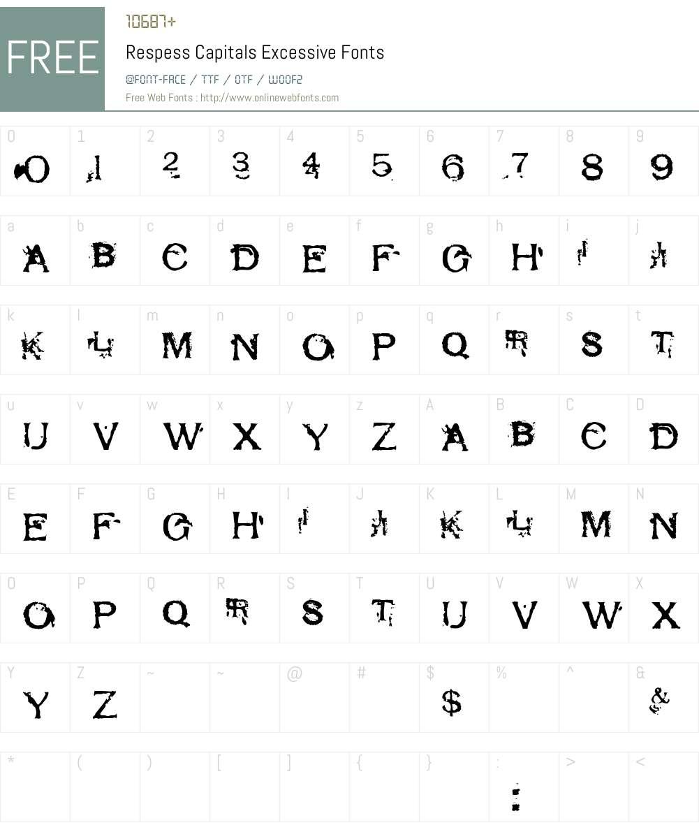 Respess Capitals Excessive Font Screenshots